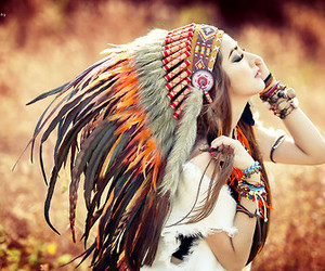 feather, indian, and boho image