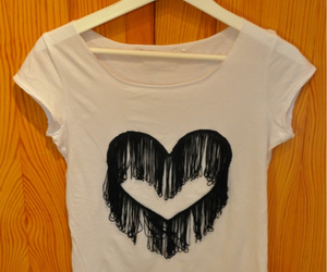 blouse, diy, and heart image