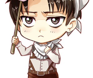 attack on titan, anime, and chibi image