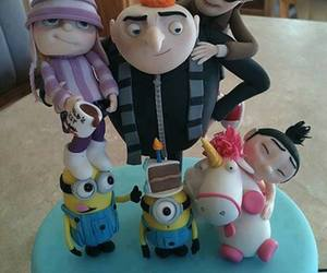 cake, minions, and despicable me image