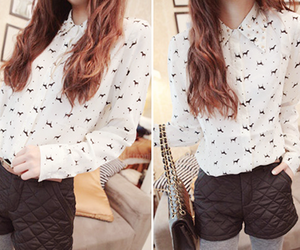 blouse, outfit, and clothes image