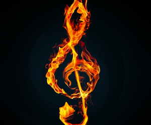 music, treble clef, and music sign image