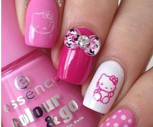 bow, HelloKitty, and pink image