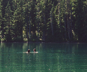 lake, nature, and couple image