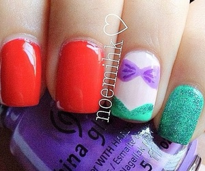 ariel, nails, and cute image