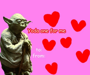 valentine, funny, and yoda image