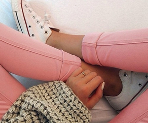 converse, girl, and pink image