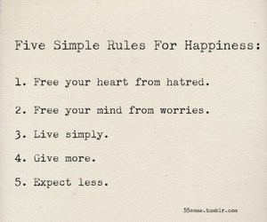 happiness, quotes, and rules image