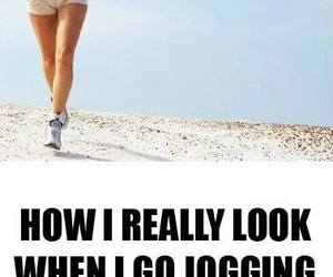 funny, jogging, and dog image