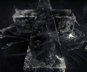 black, illustration, and cross image