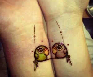 friendship, cute, and tattoo image