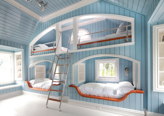 Fresh Blue Interior Of Cool Rooms For