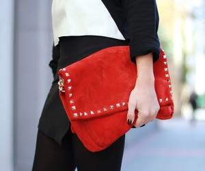 bag, red, and fashion image
