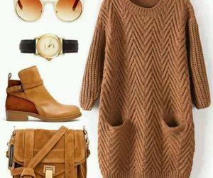 bag, brown, and winter image