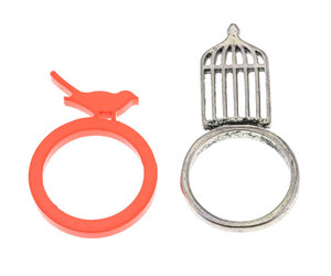 ring, silver, and women image