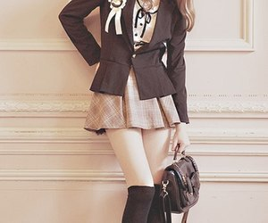 asia, fashion, and school uniform image
