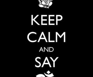keep calm and om image