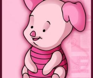 pink, baby, and piglet image