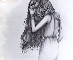 alone, draw, and drawing image