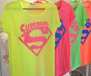 Supergirl, superman, and t-shirt image