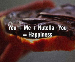 me, nutella, and love image