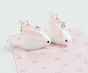 pink, rabbit, and cute image