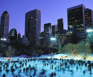 nyc, Central Park, and ice image