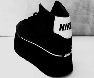 nike, platform, and shoes image