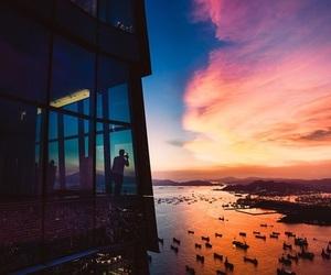 sunset, beautiful, and sky image