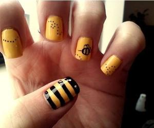 bee, nails, and yellow image
