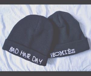 hat, black, and homies image