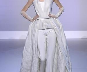 catwalk, dress, and white image