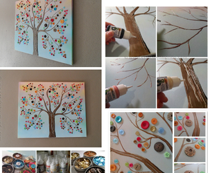 diy, tree, and buttons image