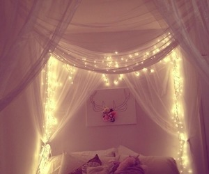 bed, Dream, and interior image