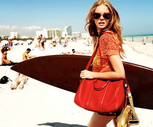 beach, girl, and model image