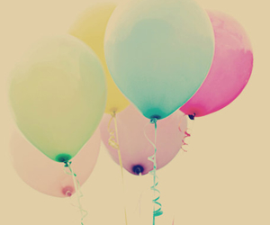 balloons, pretty, and vintage image