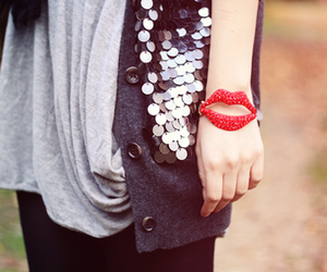 fashion, lips, and bracelet image