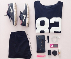 nike, clothes, and fitness image