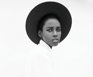 beautiful, girl, and black and white image