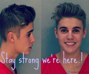 I Love You, justin bieber, and we're here image