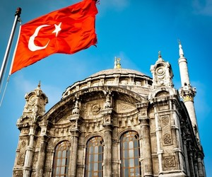 flag, mosque, and turkey image
