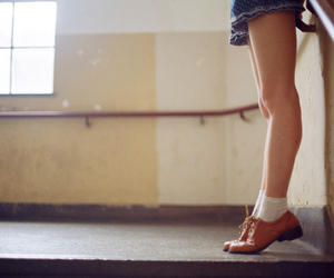 brogues, girl, and legs image