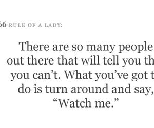 quote and rules of a lady image