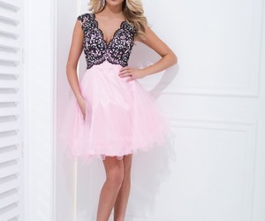 illusion, lace, and pink and black image