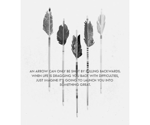arrow, hope, and quote image