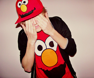 boy, elmo, and red image