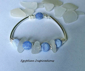 beach glass, seaglass, and bracelet image