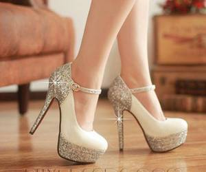 fashion, glitter, and heels image