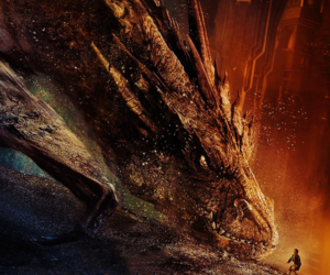 smaug, dragon, and hobbit image