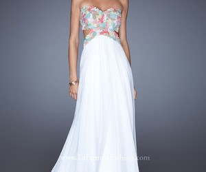 prom dress and white image